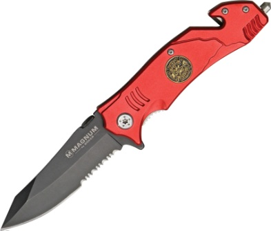 BOM01LL470 Boker Magnum Rescue Linerlock Pocket Knife Fire Fighter