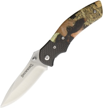 BR0230 Browning Linerlock Pocket Knife Camo Carbon Fiber