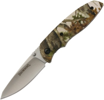 BR0253 Browning EDC-Every Day Camo Linerlock Pocket Knife Tan