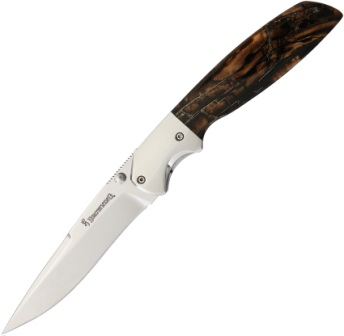 BR0254 Browning Visual Effects Mammoth Tusk Linerlock Pocket Knife