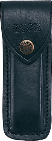BU110S Buck Model 110 Lockback Pocket Knife Belt Sheath Leather