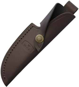 BU191S Buck Model 191 Zipper Guthook Knife Belt Sheath Brown Leather