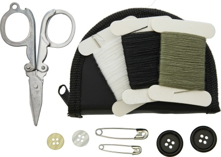BUS135AB Bushcraft Sewing Kit In Zipped Pouch