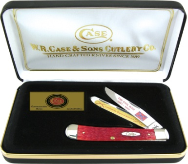 CA1861RPB Case Cutlery Confederate States of America Commemorative Trapper Pocket Knife