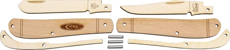 CA207W Case Wooden Knife Kit Mini Trapper Pocket Knife