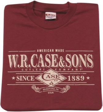 CA52486 Case Cutlery T-Shirt Maroon Small