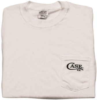 CA52492 Case Cutlery Pocket T-Shirt White Small