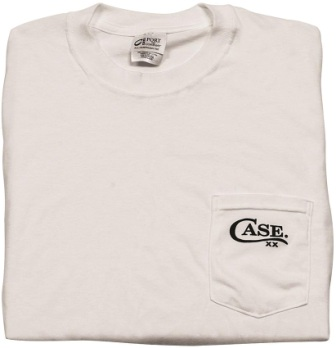 CA52494 Case Cutlery Pocket T-Shirt White Large