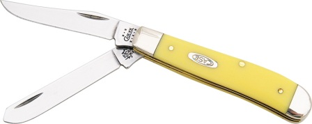 CA80029 Case Cutlery Mini Trapper Pocket Knife Yellow Synthetic