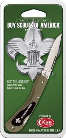 CA8033 Case Cutlery BSA Mini Blackhorn Pocket Knife Green Zytel