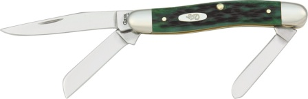 CA9721 Case Cutlery Medium Stockman Pocket Knife Bermuda Green Bone