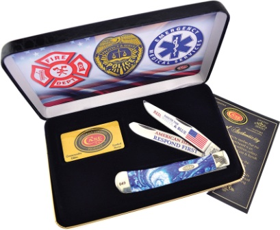 CABC1ST Case Cutlery American Hero Trapper Pocket Knife Blue Corelon