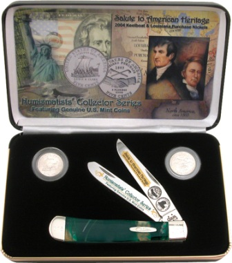 CALPCE Case Cutlery Louisiana Purchase Trapper Pocket Knife Cat's Eye Celluloid