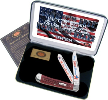 CASSBRPB Case Cutlery Trapper Pocket Knife Star Spangled Banner Corelon