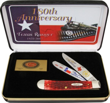CATXRRPB Case Cutlery Texas Ranger Trapper Pocket Knife Red Bone