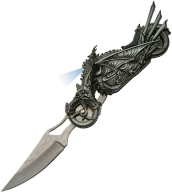 CN211409 Dragon Rider LED Linerlock Pocket Knife