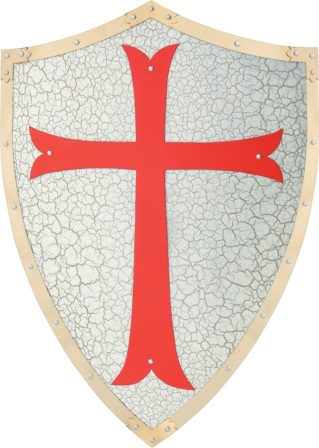 CN926719 Knight's Templar Shield Replica