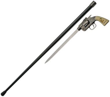 CN926934WE Wyatt Earp Revolver Sword Cane