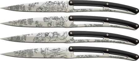DEE4AP011 Deejo Steak Bistro Knife Set Toile