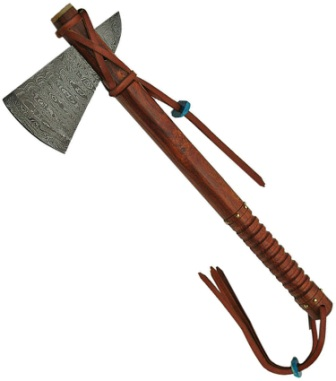 DM5015 Damascus Steel Frontier Axe Wood Handles
