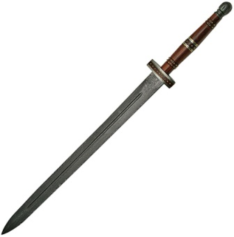 DM5016 Damascus Steel Imperial Sword Wood Handle
