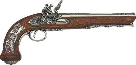 DX1084NQ Denix 1810 French Flintlock Dueling Pistol Replica