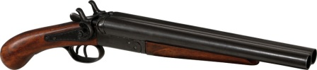 DX1114 Denix 1881 Street Howitzer Double Barrel Shotgun Pistol Replica