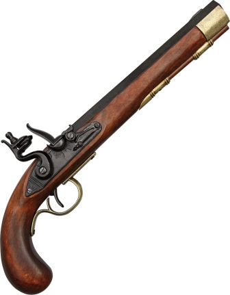 DX1136L Denix 19th Century Kentucky Flintlock Pistol Replica