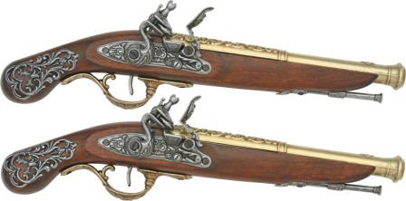DX1196 Denix Replica 18th Century British Dueling Pistol Set