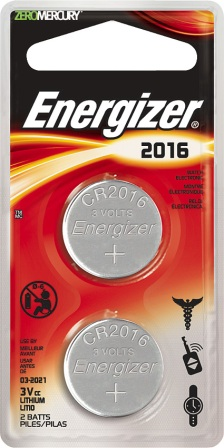 ENR20162 Energizer 2016 3V Battery 2 Pack