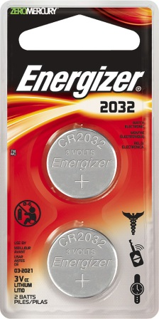ENR20322 Energizer 2032 3V Battery 2 Pack