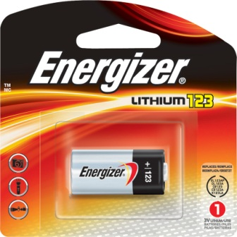 ENREL123 Energizer 123 Battery 3V Battery