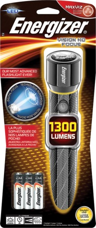 ENREPMZH61 Energizer Vision HD Focus Flashlight
