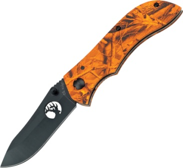ER015OC Elk Ridge Linerlock Pocket Knife Orange Camo