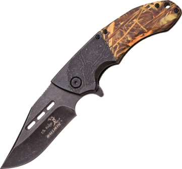 ERA006GC Elk Ridge Ballistic Linerlock Pocket Knife Gray A/O