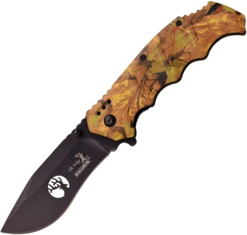 ERA158CA Elk Ridge Ballistic Linerlock Pocket Knife A/O Camo