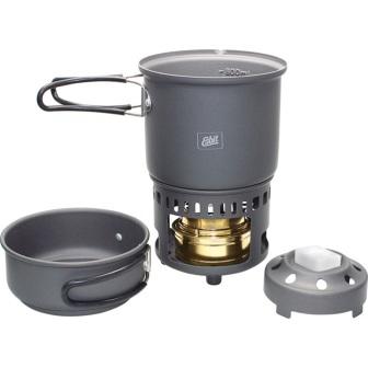 Esbit Solid Fuel Cookset ESB87013 Hard anodized aluminum construction Measures