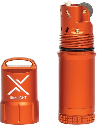 ET5500ORG Exotac titanLIGHT Refillable Lighter