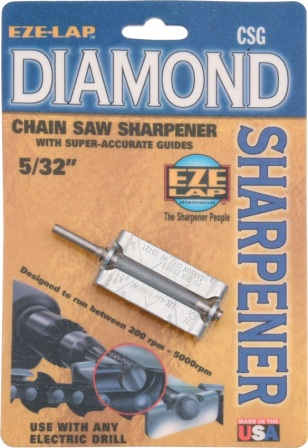 EZLCSG532 Eze-Lap Diamond Chain Saw File Sharpener