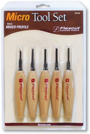 FLEXMT940 Flexcut Micro Tool Mixed Profile Set