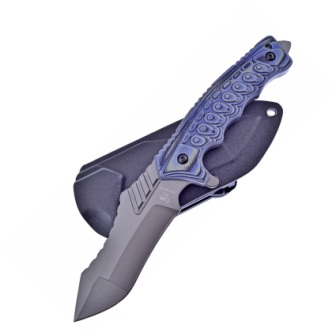 HR007BL Hen & Rooster Fixed Blade Knife Blue