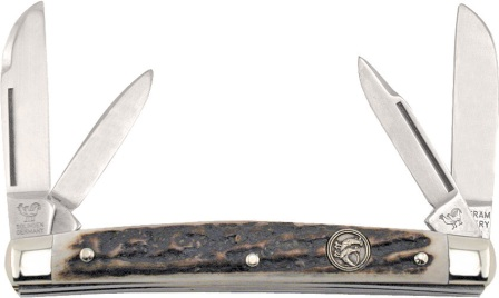 HR114DS Hen & Rooster Knives Small Congress Pocket Knife Deer Stag