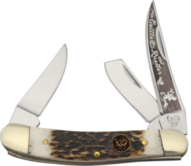HR283DSCR Hen & Rooster Little Cattle Rustler Sowbelly Little Stockman Pocket Knife