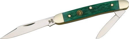 HR302GPB Hen & Rooster Pen Knife Green Pick Bone