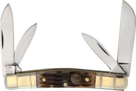 HR324CAGB Hen & Rooster Congress Pocket Knife Antique Green Bone