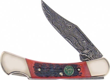 HR351RPBD Hen & Rooster Damascus Lockback Pocket Knife