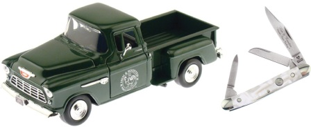 HRPU303CI Hen & Rooster Scale Model Pick-up with Stockman Knife