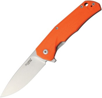 LSTTREGOR Lion Steel TRE G-10 Framelock Pocket Knife Orange