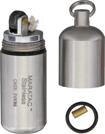 MARD27 Maratac Stainless Peanut Lighter