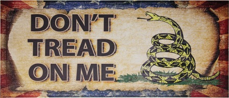 MI237 Don't Tread On Me Wood Sign